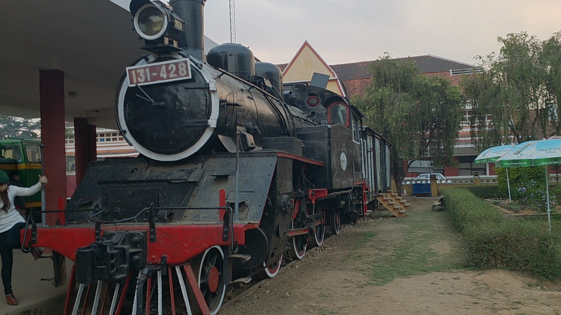 ダラット高原鉄道で隣町のチャイマット村へ