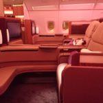 カタール航空A380ファーストクラス搭乗記 バンコク⇒ドーハ