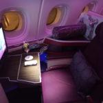 機内にバーラウンジ 搭乗記 カタール航空 A380 ビジネスクラス 広州⇒ドーハ