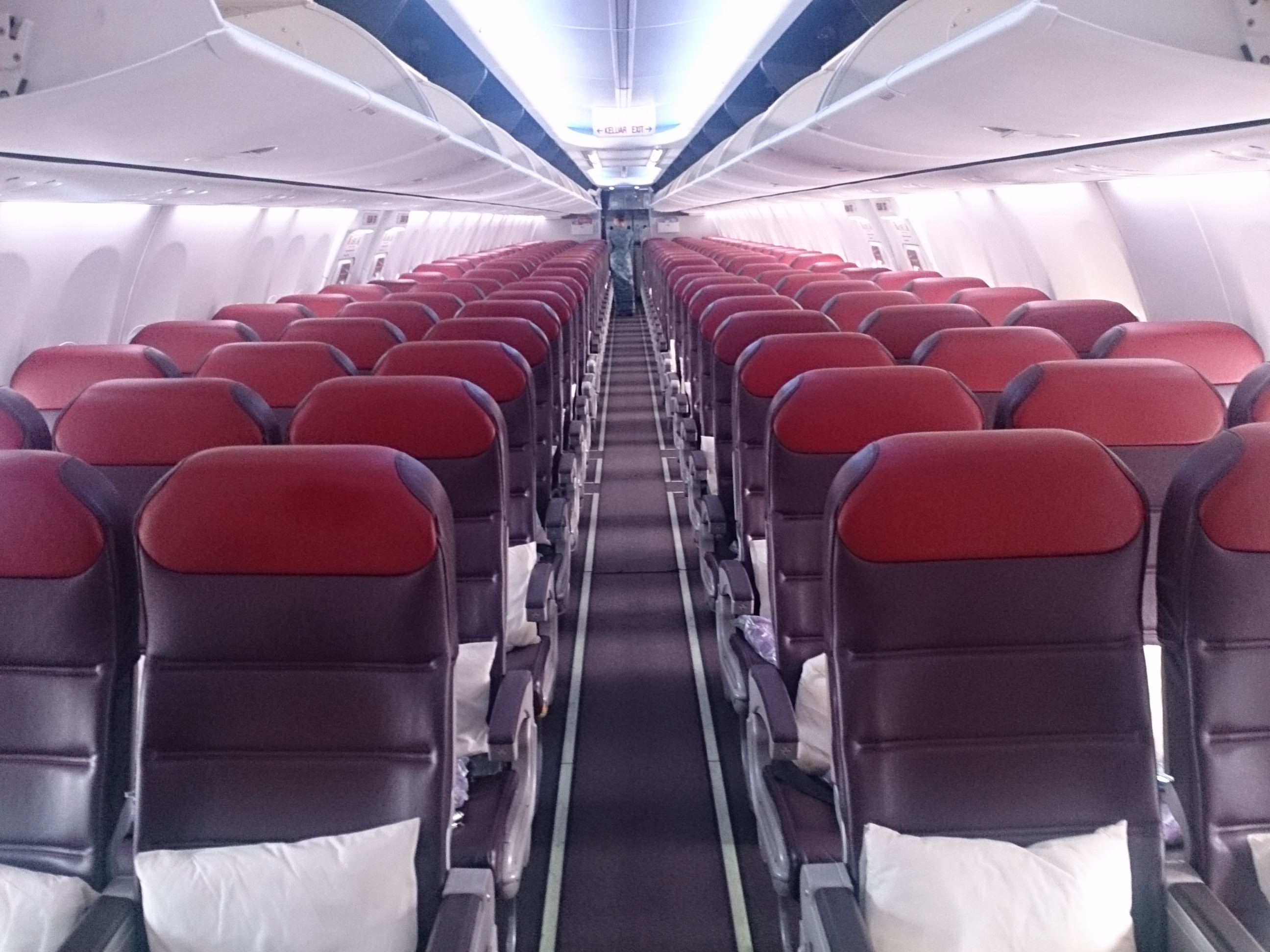 MH0073 マレーシア航空ビジネスクラス B737-800 香港―クアラルンプール