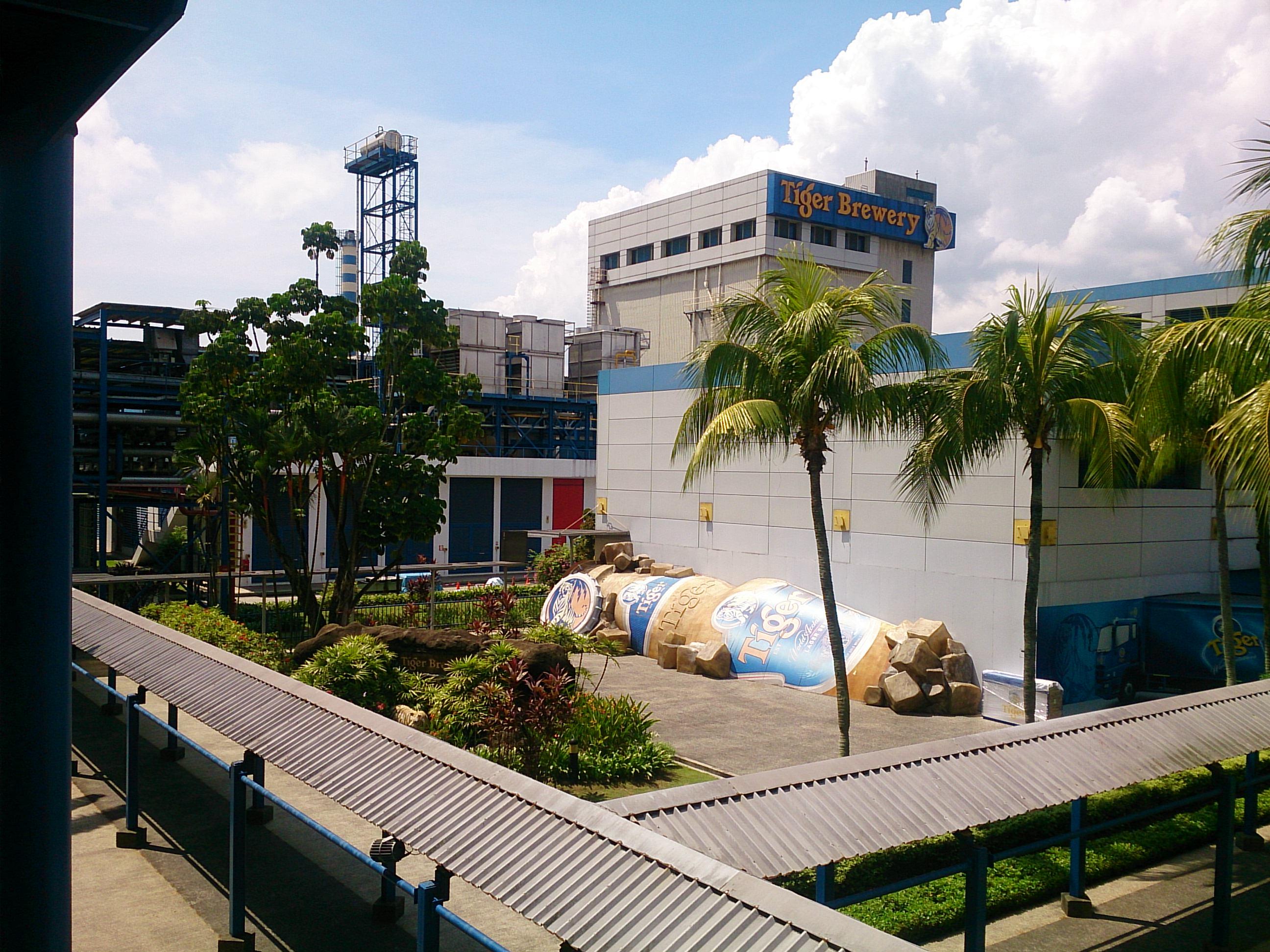 タイガービール工場見学でビールの飲み放題@シンガポール