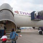 TG409 タイ国際航空B777-300 ビジネスクラス搭乗記 バンコク-シンガポール
