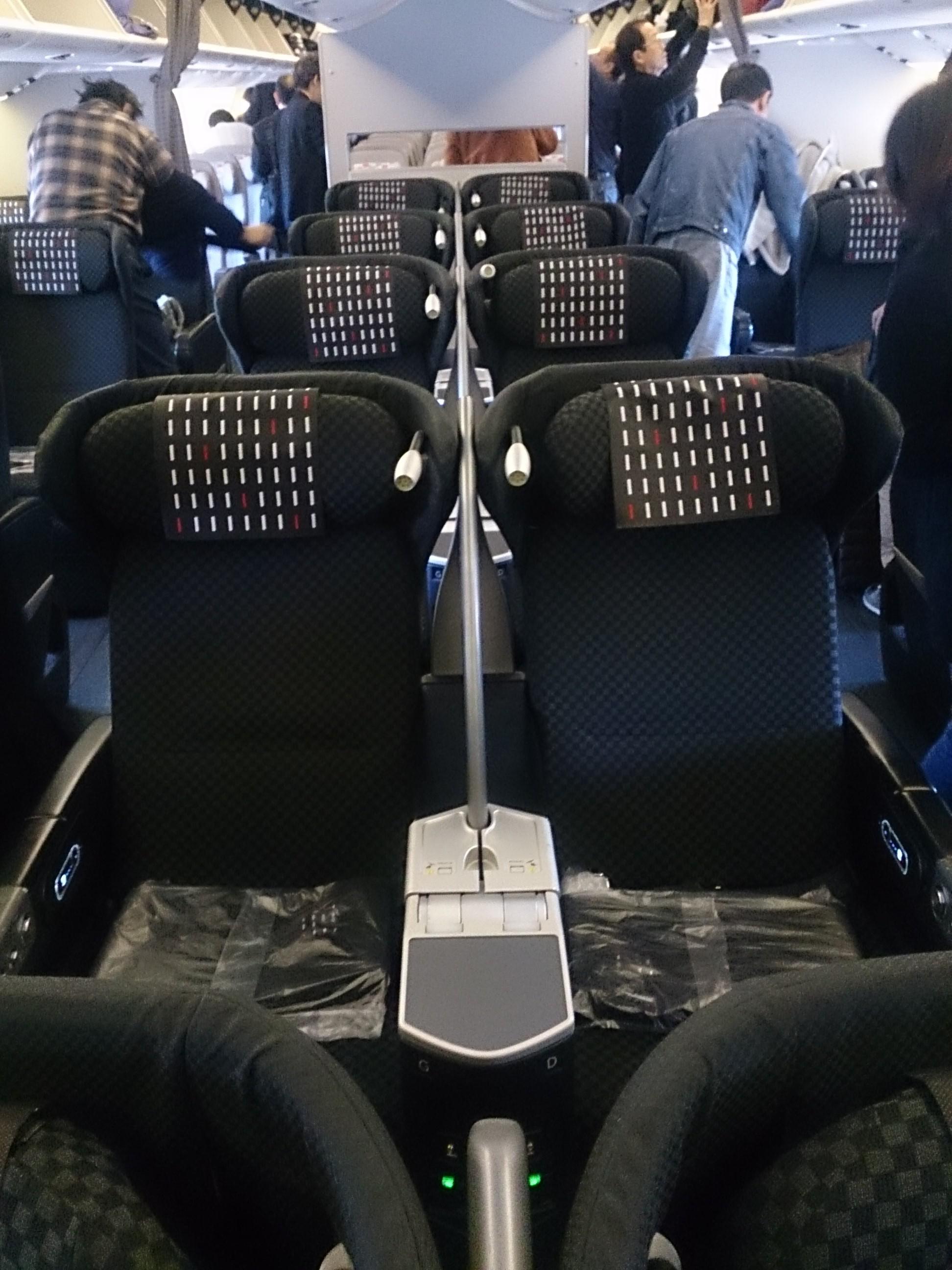 日本航空 広州ー羽田 JL088 ビジネスクラス搭乗記