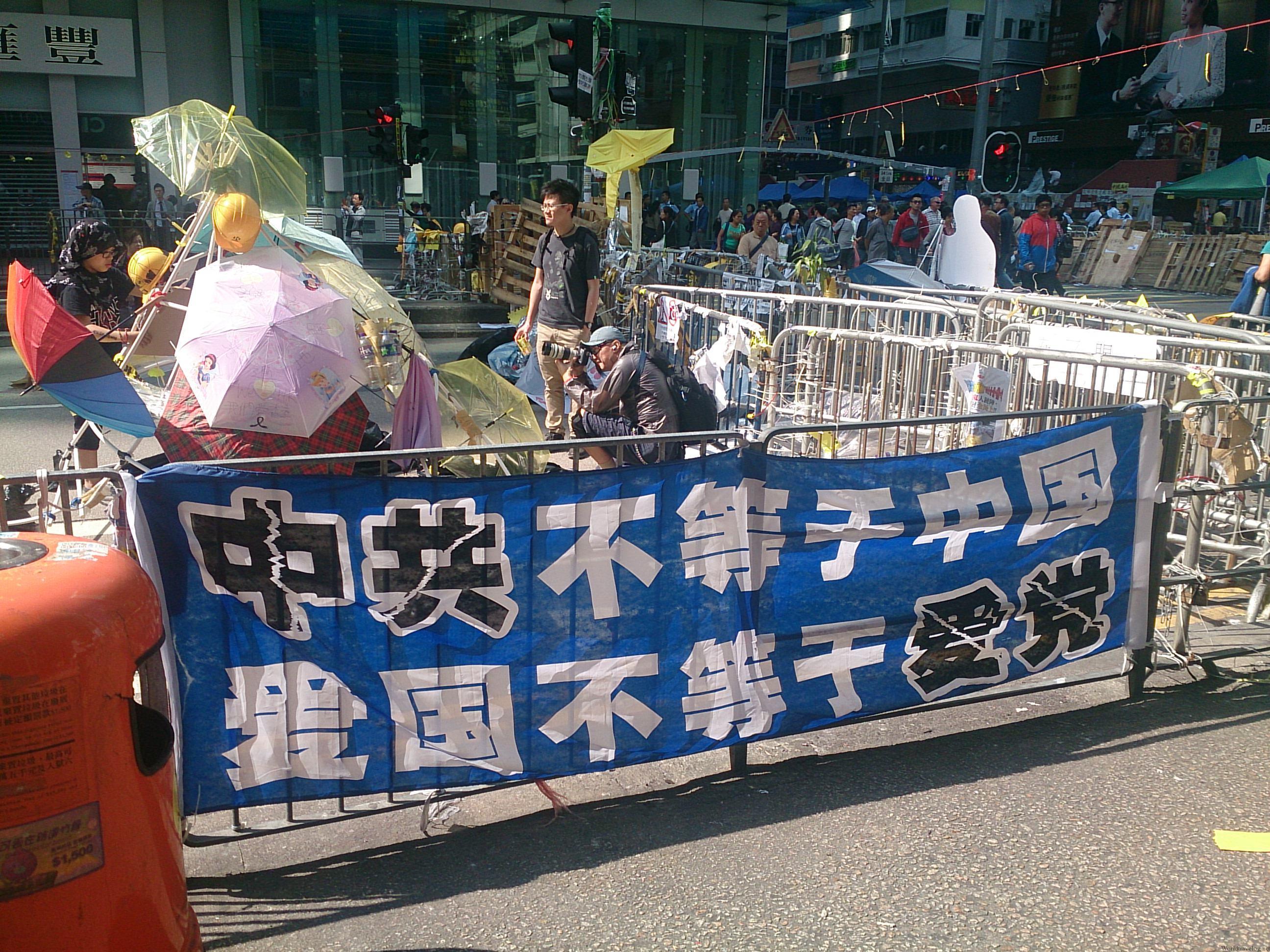 香港で長期化する反政府デモの現場