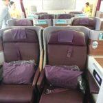 タイ国際航空 B777-300ER ビジネスクラス搭乗記 香港⇒バンコク