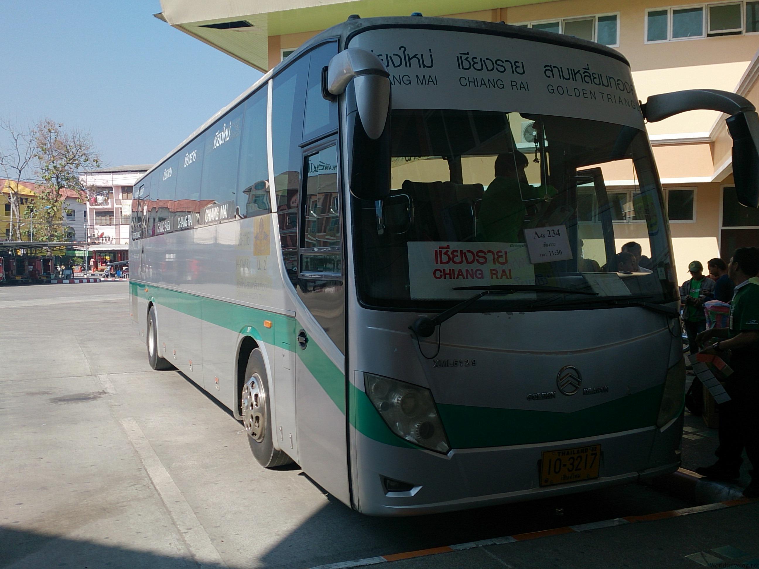 バスでチェンマイからチェンラーイへ