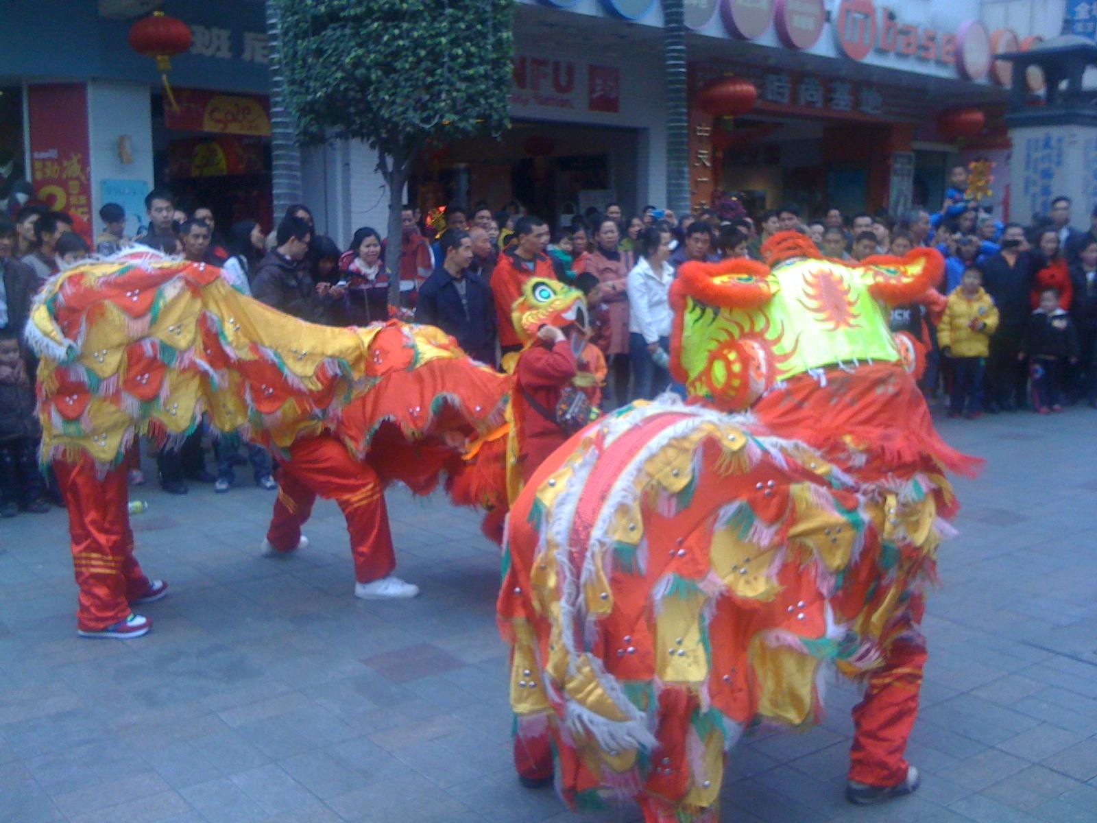 中国旧正月③獅子舞