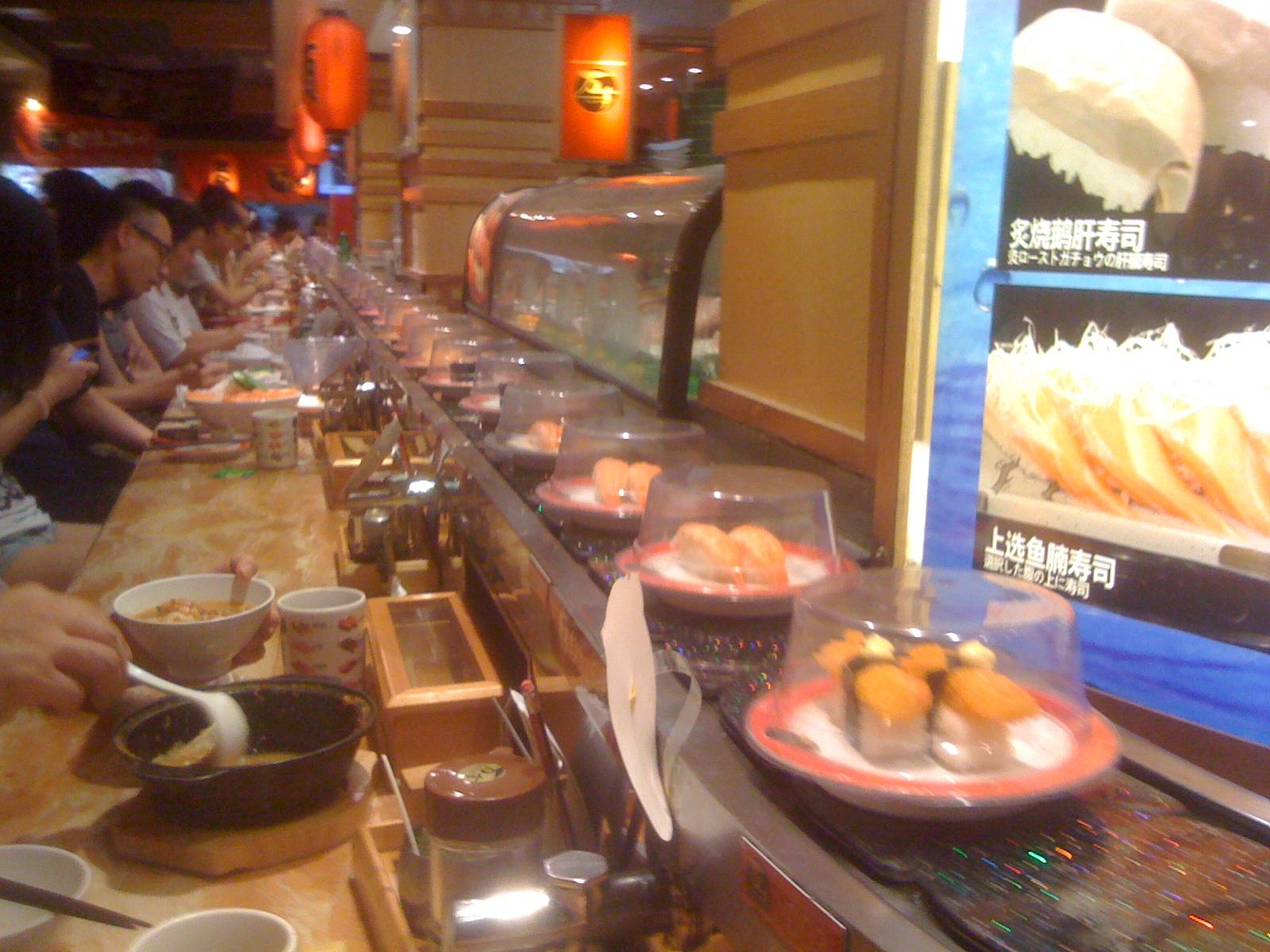中国で回転寿司を食してみる