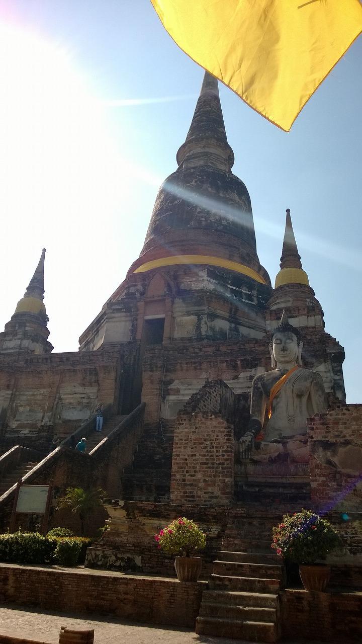 アユタヤ随一の人気寺院 ワット・ヤイ・チャイモンコン